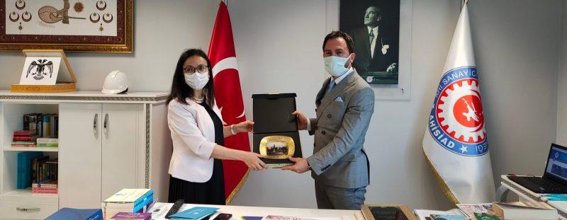 Kaymakam Dr. Hülya Kaya'dan AHİSİAD'a Ziyaret